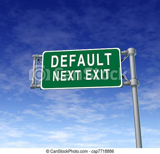Default danger sign - csp7718886