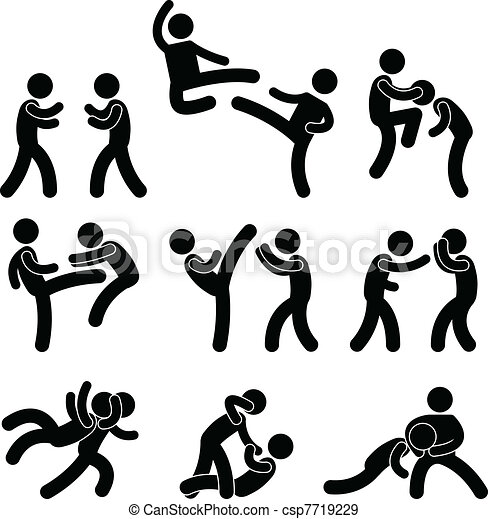 Fighter Muay Thai Boxing Karate - csp7719229