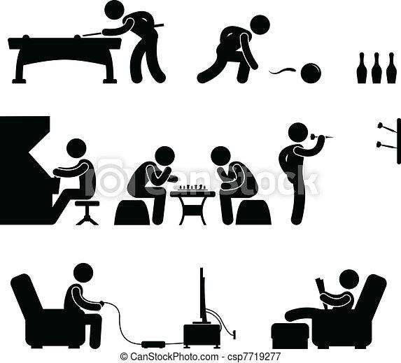 Club Indoor Activity Snooker Pool - csp7719277