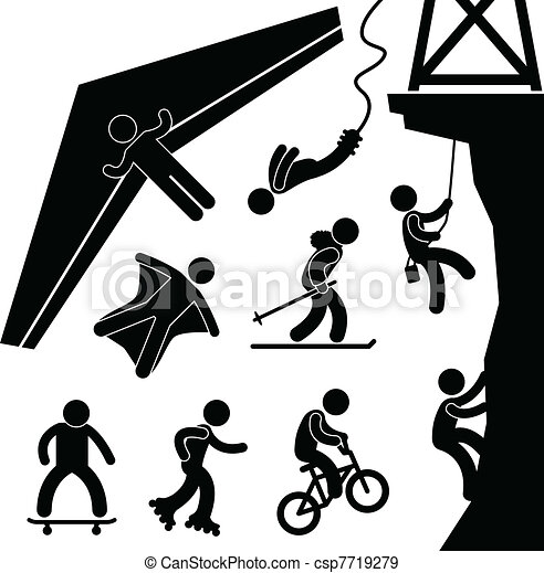 Extreme Sport Hang Glider Bungee - csp7719279