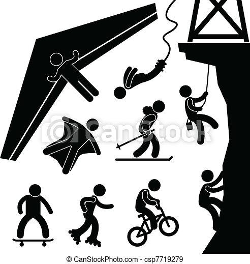 Extreme Sport Hang Glider Bungee - csp7719279
