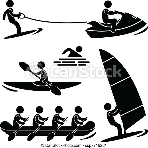 Water Sea Sport Skurfing Rafting - csp7719281