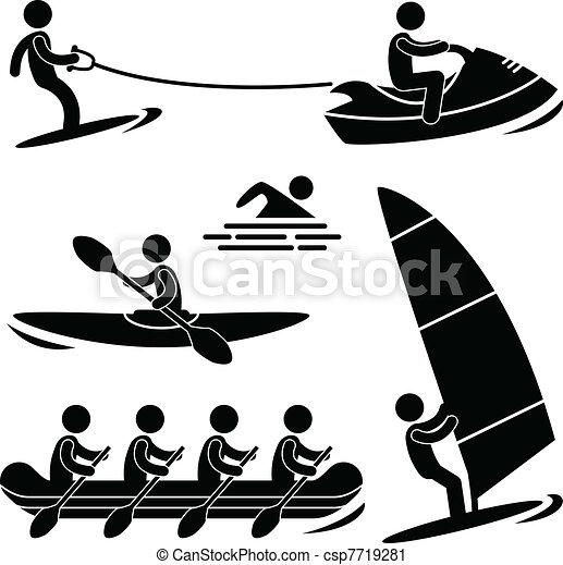 Water Sea Sport Skurfing Rafting - csp7719281