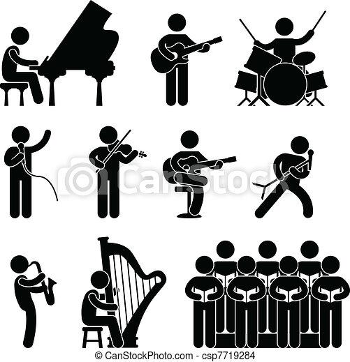 Musician Pianist Concert Choir - csp7719284