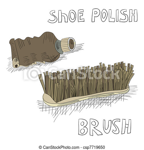 Shoe polish and brush - csp7719650
