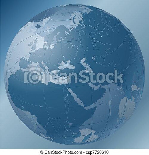 World Globe Blue - csp7720610