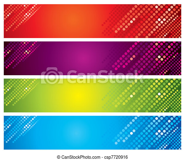 Four multi-coloured banners - csp7720916