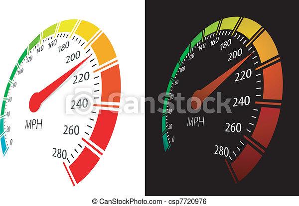 Vector speedometer  in perspective view - csp7720976