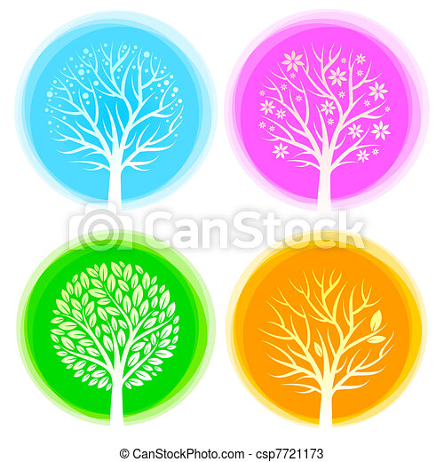 Four seasons vector trees - csp7721173