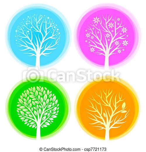 Four seasons vector trees - csp7721173