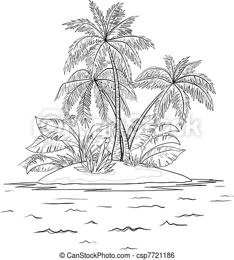 royalty free illustrations  stock clip art icon  stock clipart    Island Clipart Black And White