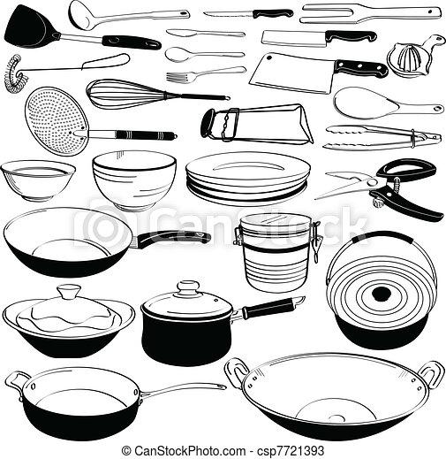 Vecteurs de quipement outillage cuisine ustensile a for Equipement petite cuisine