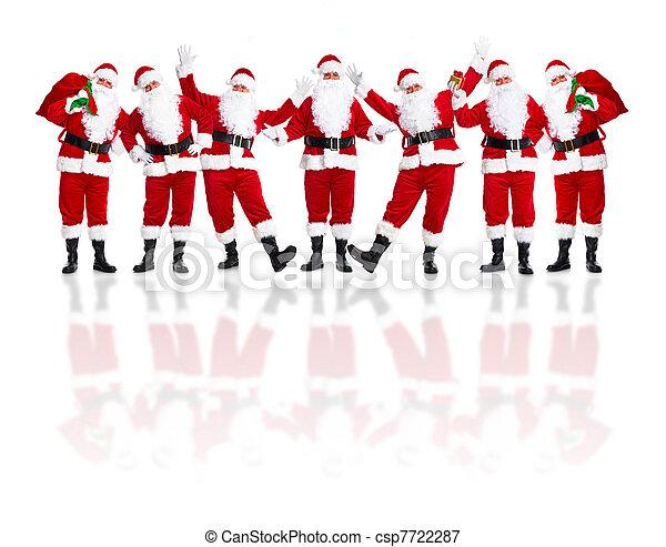 Santa Claus group. - csp7722287