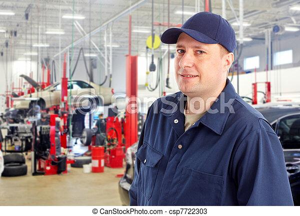 Stock Photos of Auto mechanic - Professional auto mechanic in auto repair...