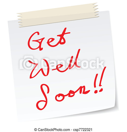 get well soon, blessing messages - csp7722321