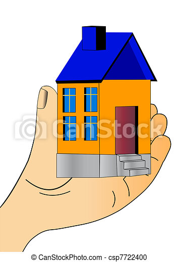 nice house keeps in hand and show  - csp7722400