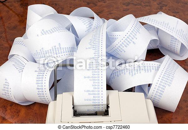 desktop calculator with calculating - csp7722460
