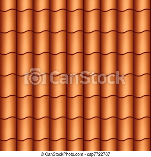 Seamless roof tiles - csp7722787