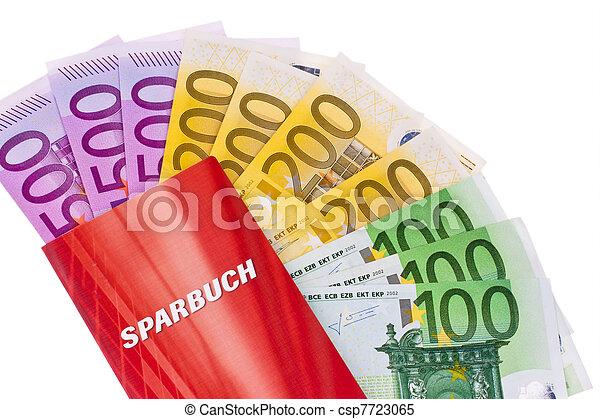 euro banknotes and savings account - csp7723065