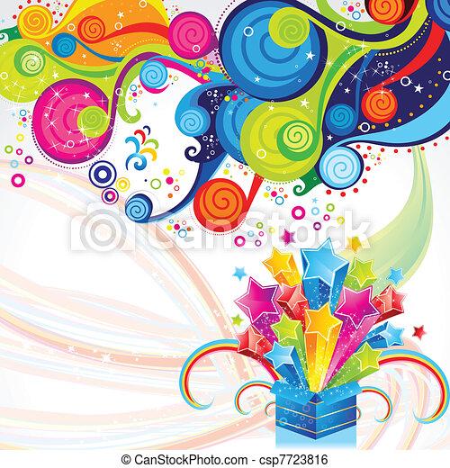 abstract magic box  - csp7723816