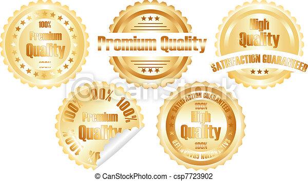 vector gold  premium quality label - csp7723902