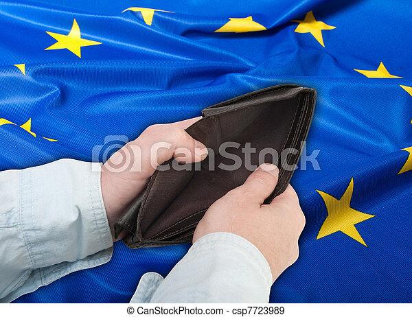Financial Crisis in European Union - csp7723989