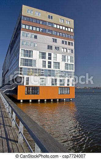 image de moderne architecture amsterdam contemporain maison csp7724007 recherchez des. Black Bedroom Furniture Sets. Home Design Ideas