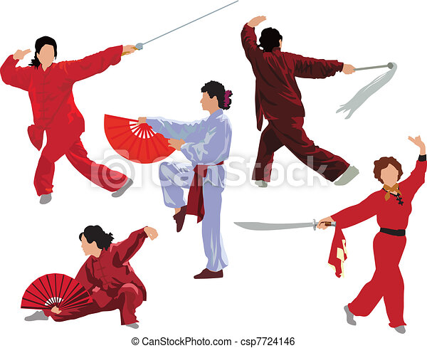 Tai-chi woman collection - csp7724146