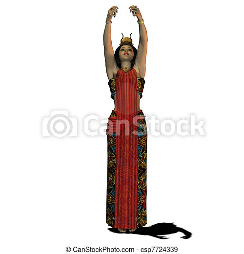 Egyptian Lady Drawing Egyptian Woman Csp7724339