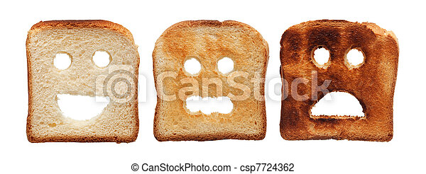 Toast bread differently burned - csp7724362