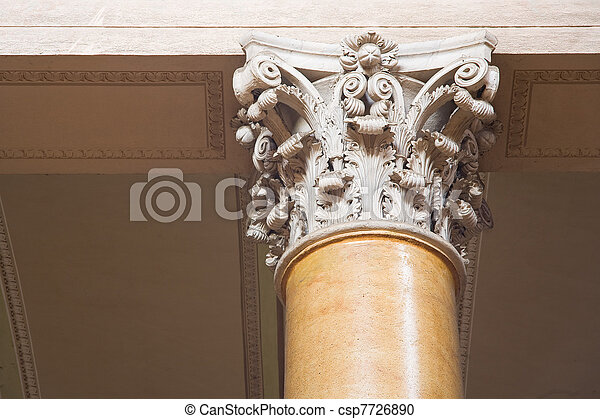 Corinthian columns. - csp7726890