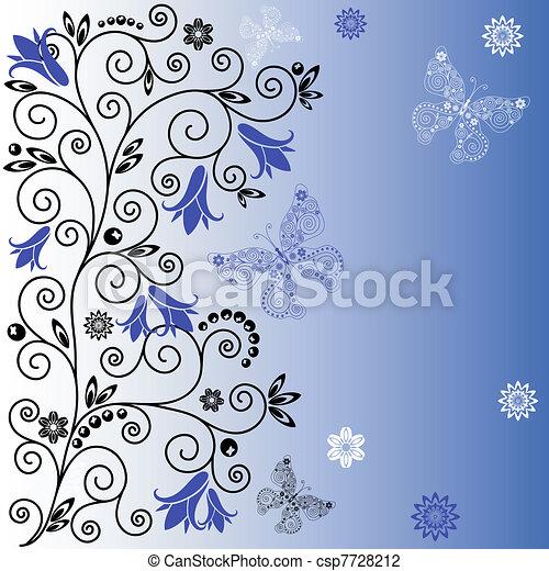 Gentle blue background - csp7728212