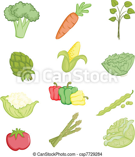 Vegetables icons - csp7729284
