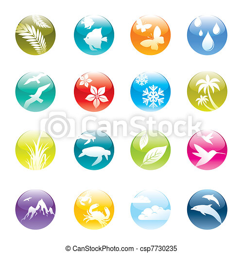 Nature & eco vector icons set - csp7730235
