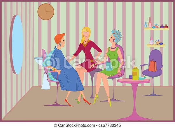 Beauty salon friends meeting - csp7730345
