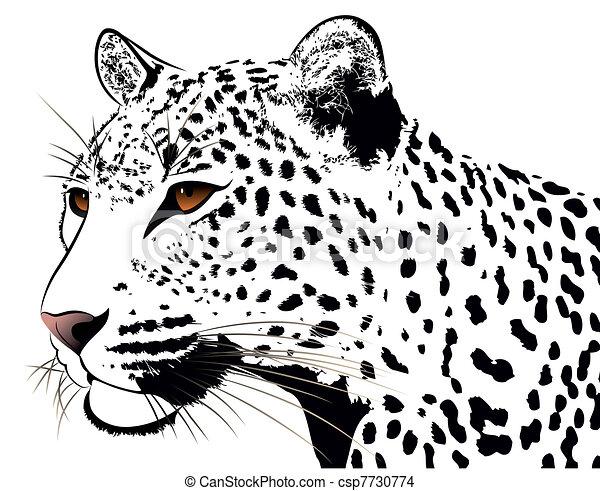 Leopard, tattoo - csp7730774