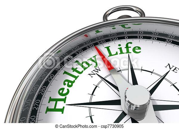 healthy life concept compass - csp7730905
