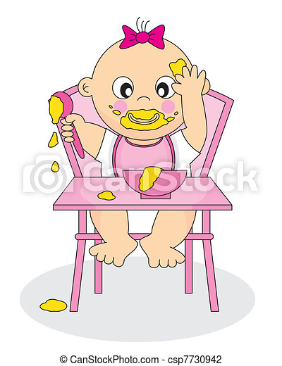 Baby Eating - csp7730942