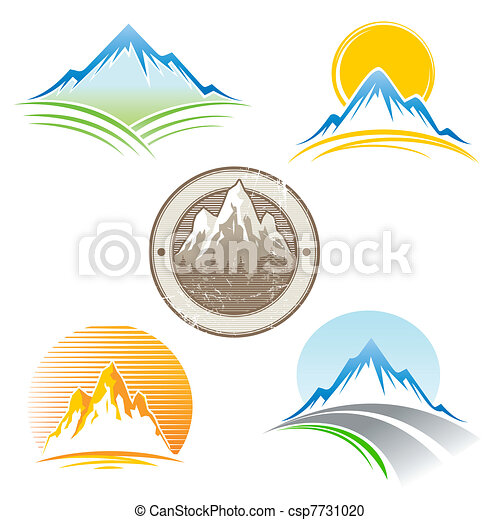 Set of vector mountains emblem - csp7731020