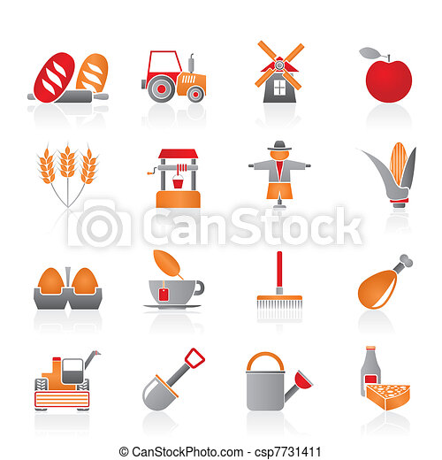 Agriculture and farming icons  - csp7731411