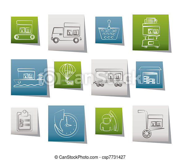 Logistic, cargo and shipping icons  - csp7731427