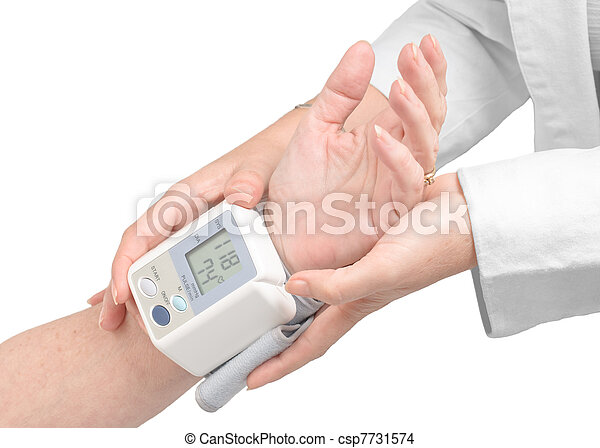 Medical assistance measuring blood pressure - csp7731574