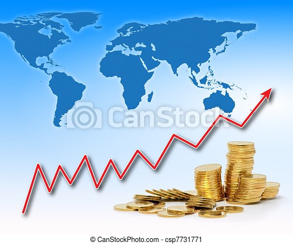 Rising gold value in the world - csp7731771