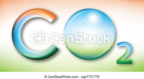 Carbon dioxide illustration - csp7731775