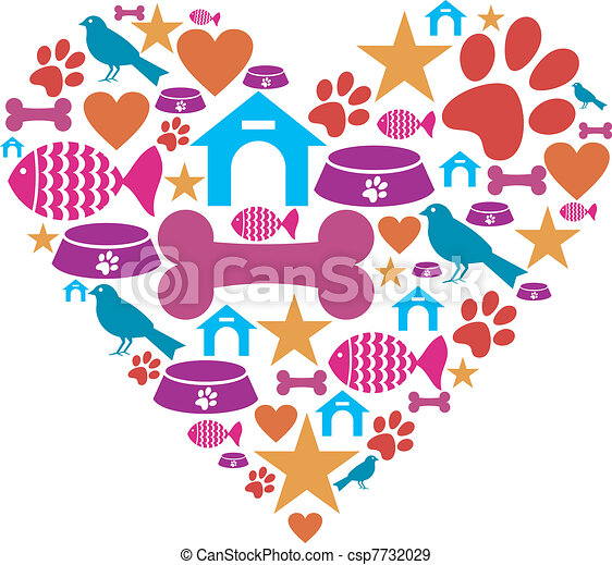 Love for pets icon collection - csp7732029