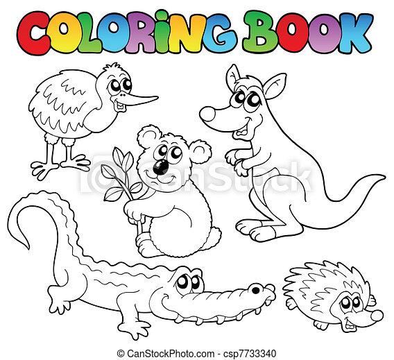 Coloring book Australian animals 1 - csp7733340