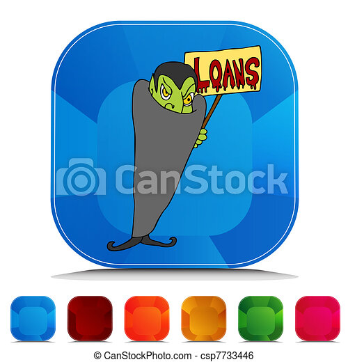 Blood Sucking Lender Gemstone Button Set - csp7733446