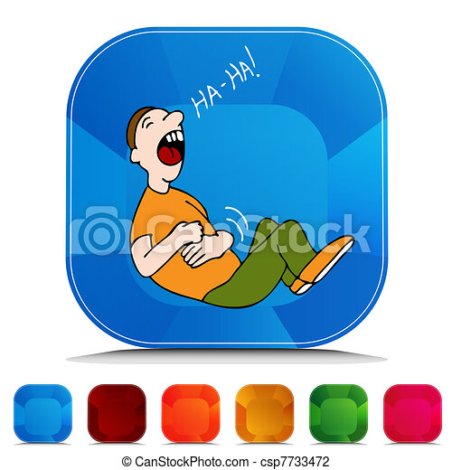 ボタン, セット, 宝石, 腹笑い -...