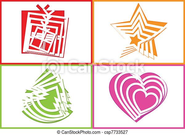 cutout holiday symbols - csp7733527