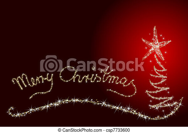 Abstract Merry Christmas Card - csp7733600